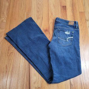 American Eagle Hipster Distressed Flare Jeans
